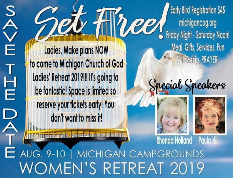 c427a7278d4cd Set Free! Women's Retreat 2019 – Michigan Church of God